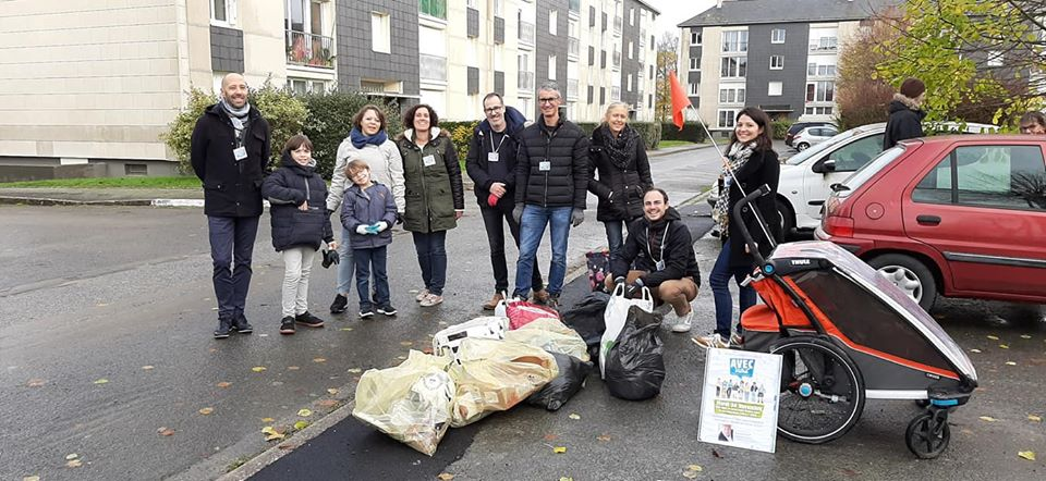 Rencontre avec les habitants de Maison-Rouge à l'occasion d'un Clean'up