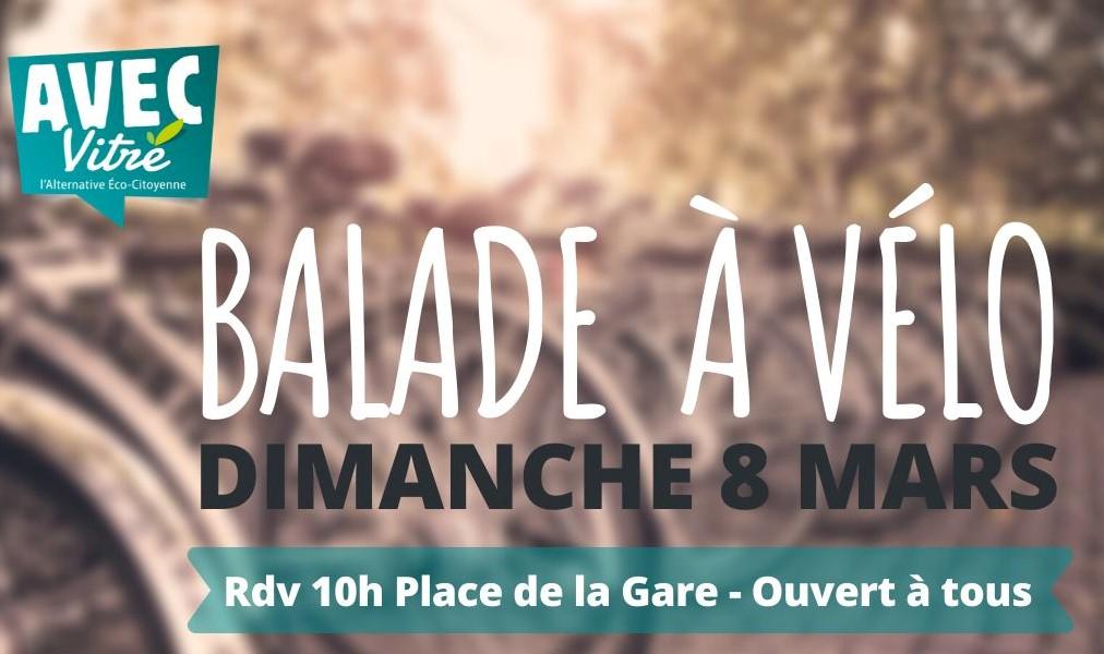 Dimanche 8 mars : balade à vélo dans le centre ville de Vitré